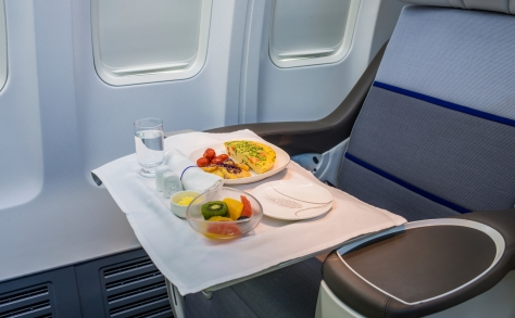 Airline Lunch served during long distance flight
